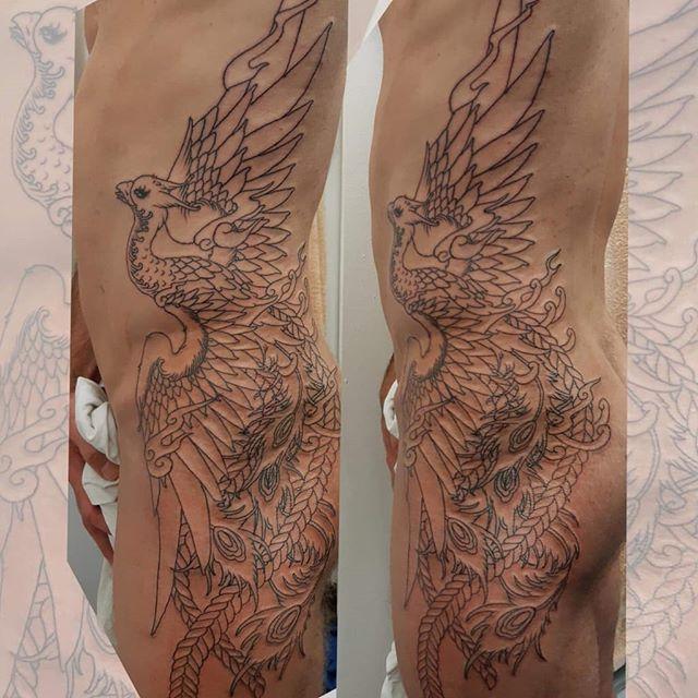 Phoenix by @attivannauticus #phoenix #tattoo #hypetattoo