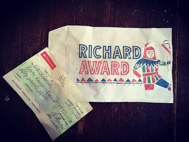 I WON THE RICHARD AWARD YAY!  On Saturday I performed my new aerial straps piece for the Richard award and won the grant, trophy and mentoring!  It was a real pleasure to perform amongst a bunch of very talented circus artists that evening everyone smashed it!  Thanks you Richard award for this opportunity :) #richardaward #bristol #circus