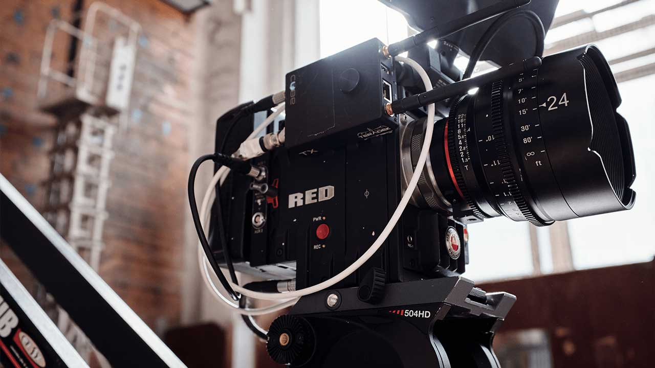 Traditional Filming at East City Films Red Camera