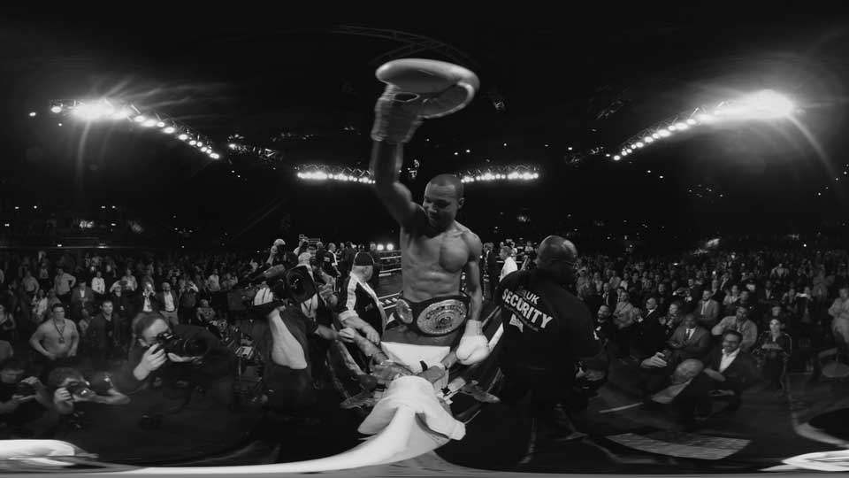 Eubank Jr. wins the IPO Super Middleweight world title and is captured in VR by East City Films for ITV.