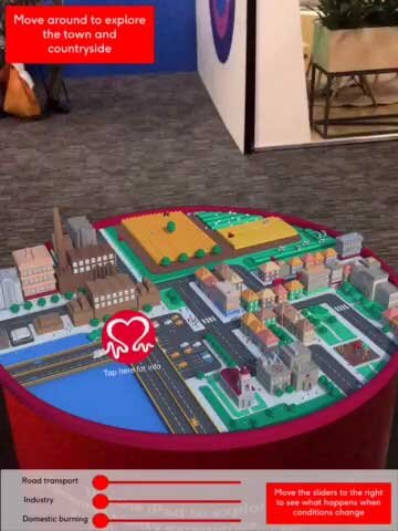 The app begins as a 3D city emerges from the 2D map.