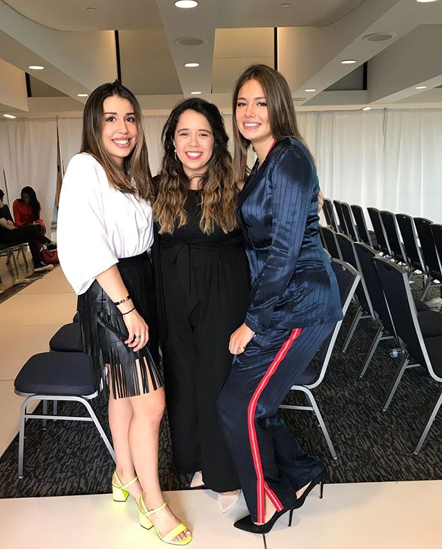 """""""Don't be afraid to do something just because no one else has done it."""" • • so proud them for taking a leap of faith, starting a new org, launching their magazine and doing their first fashion show all in one year! @gwfba @surayasalfiti @cmgcia"""