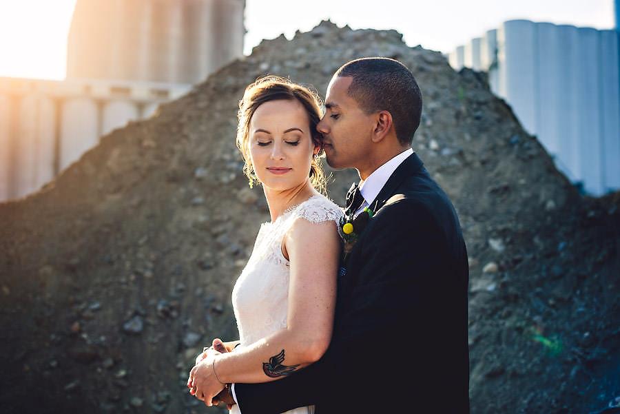 fotograf stavanger bryllupsbilde i solnedgang
