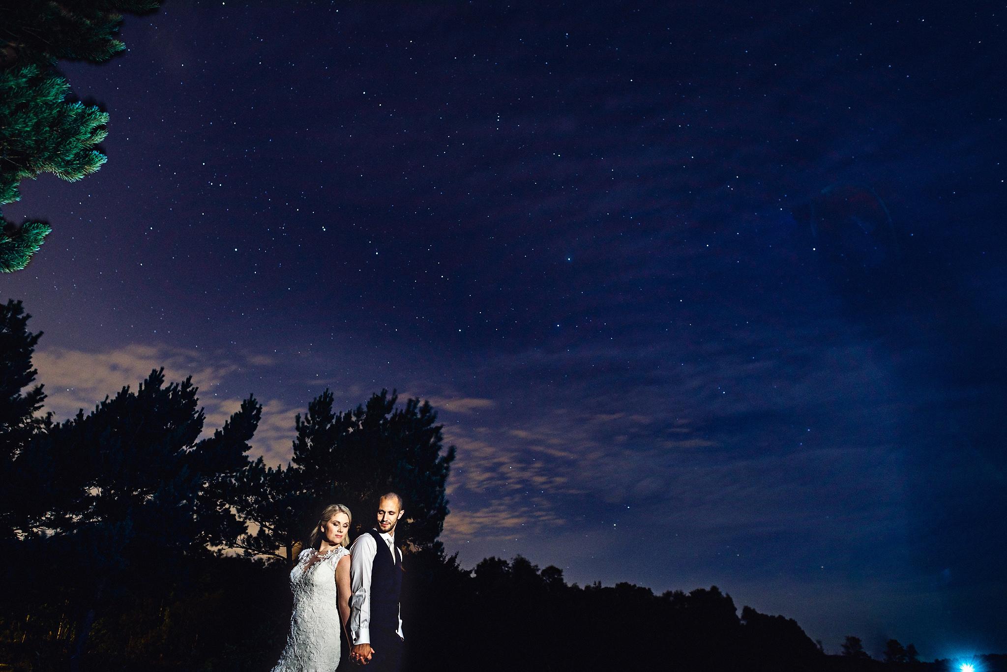 Nattportretter - Stativ, lang lukkertid og selvutløser. Lyst til å avslutte albumet med et smell? Et skikkelig siste bilde på bryllupsdagen? Når forholdene gjør det mulig pleier jeg å ta portretter i mørket.Jeg viser deg alt du trenger å vite for å blande tilgjengelig lys, blitz, lommelykt, mobiltelefon, LED-lys eller hva slags lyskilde du måtte ha for hånden.