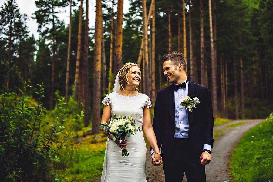brudepar i hjelle