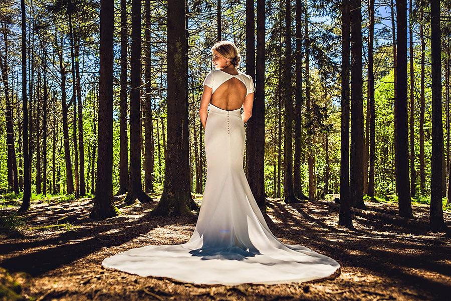 bryllupsfotograf stavanger brudebilder i sørmarka skogen
