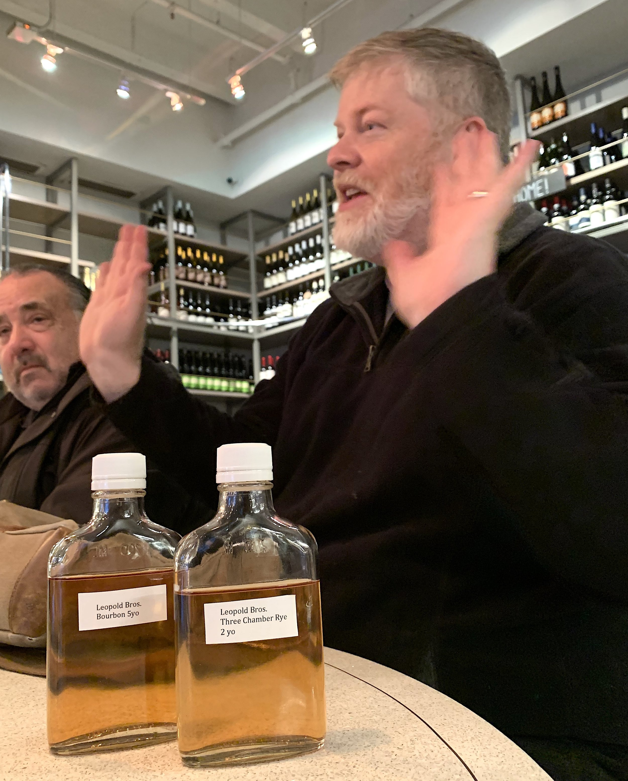 Tasting with Todd Leopold this past January