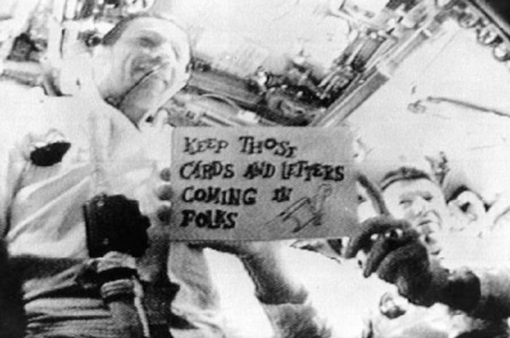 The very first TV live from space – Schirra and Eisele in touch with planet Earth - The interest created by the first TV broadcast from space was amazing - the public were excited by the prospect of man on the Moon!