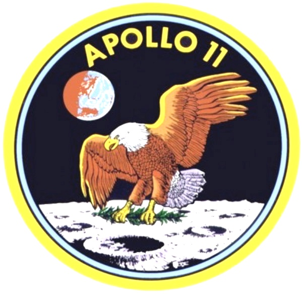 "The Apollo 11 Decal showing the Eagle lunar lander touching down at the Sea of Tranquility""Here men from the planet Earth first set foot upon the Moon - July 1969 A.D. We came in peace for all mankind"" - The quote was written on a plaque left on the Moon on the lunar lander"