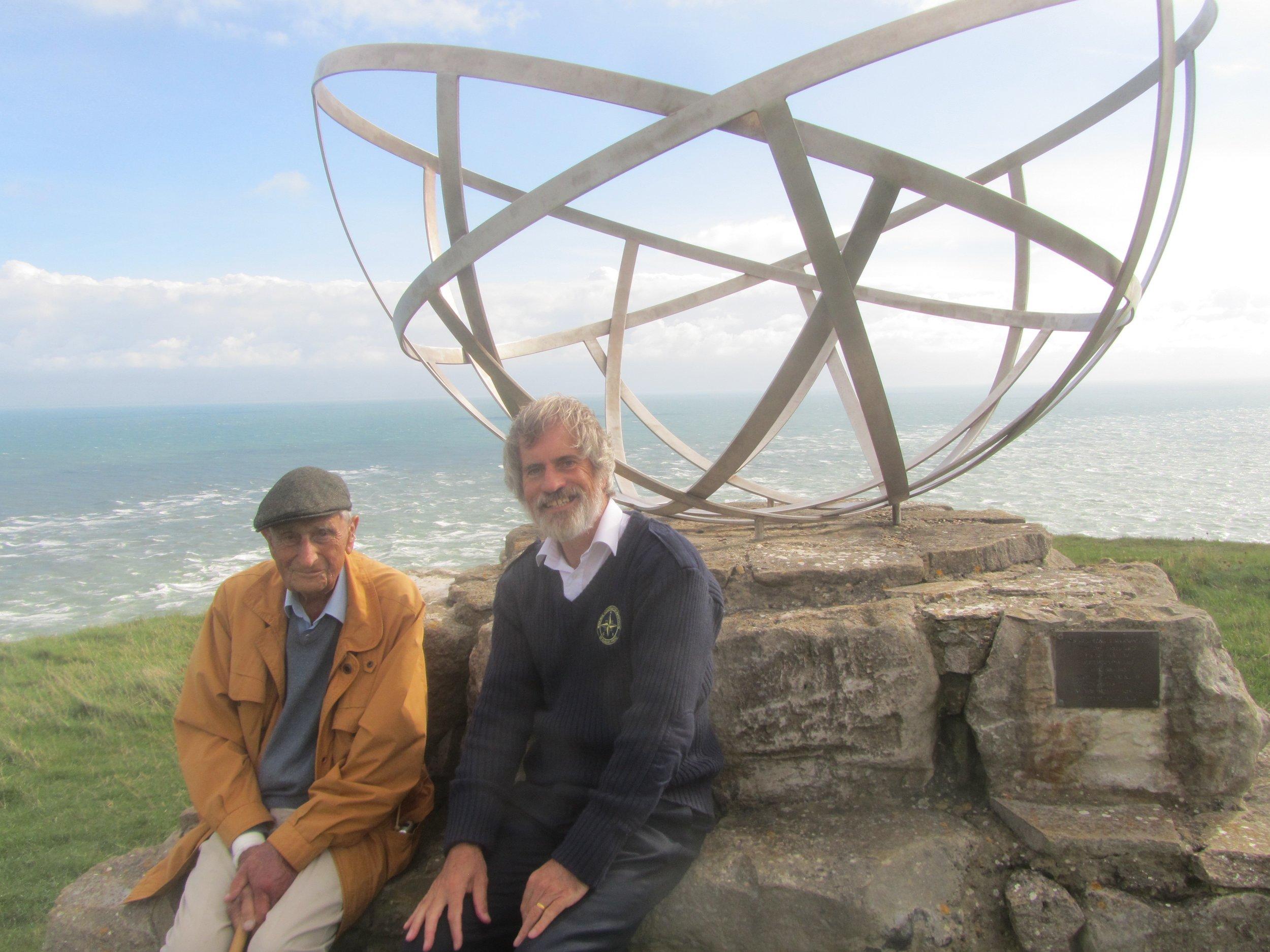 Bill and myself at the Radar Memorial, St Albans Head, Dorset