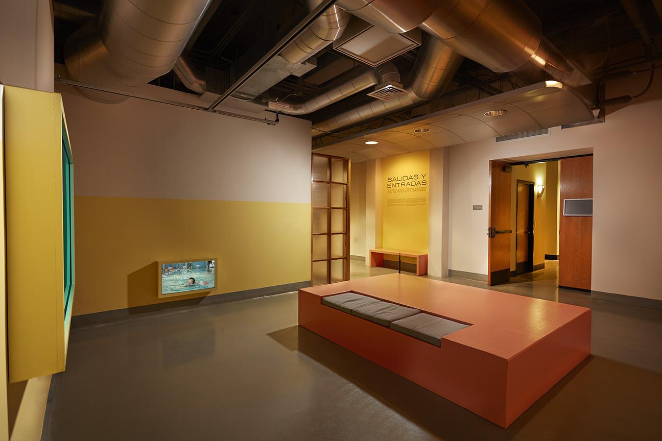 Stills and installation views from  Salidas y Entradas Exits and Entrances , Rubin Center for the Visual Arts, El Paso, TX, 2018