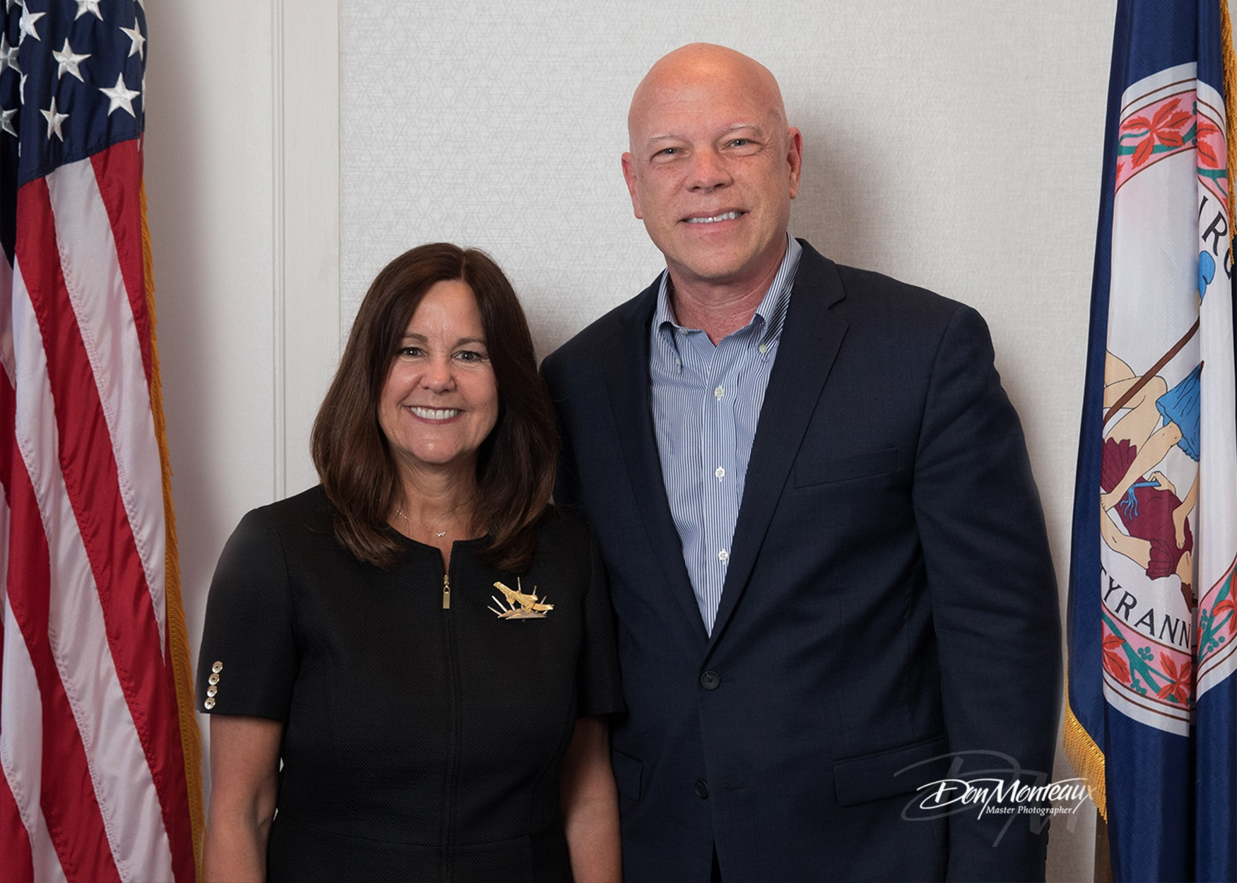 Image of Karen Pence with Don Monteaux