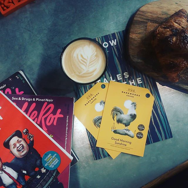 Freshly baked pastries, delicious coffee & a good read.  #coffee #ladybay #notts