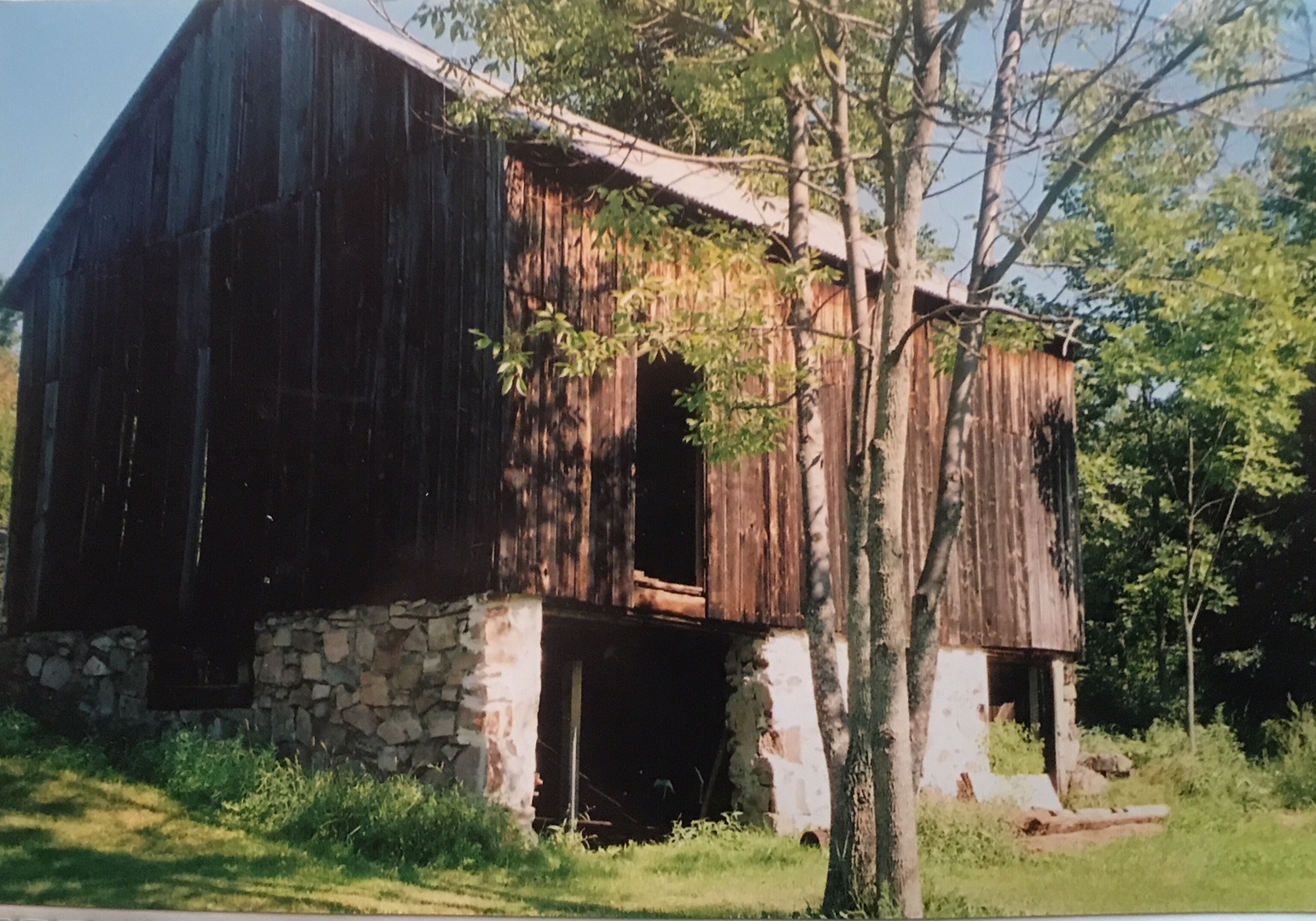 The Barn before its restoration.