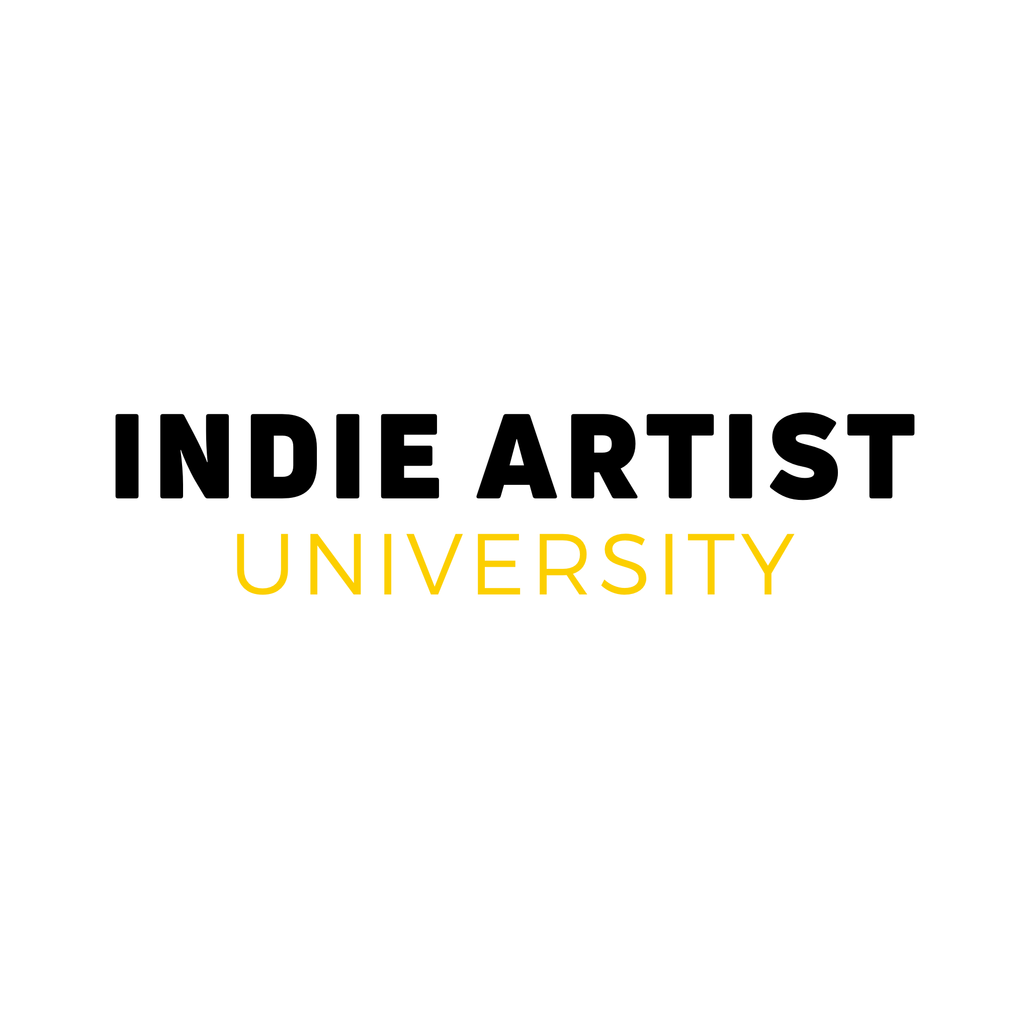 Indie Artist University logo BLACK & YELLOW transparent.png