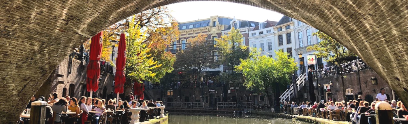 Floating down the canals of Utrecht, home of the largest university in The Netherlands