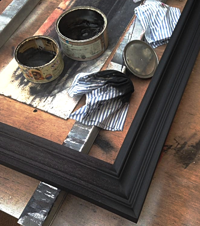 Framing - We have a reputation for lateral thinking with unique finishes, such as designing wooden frames to look like rusted metal and even sandstone. All challenges are welcome to ensure we continue to push the boundaries of design.Our wooden frames are made using carefully selected timbers such as tulip and oak. They are finished using traditional techniques with premium stains, waxes, and oils.With years of experience in water and oil gilding, we only use the finest quality leaf in either gold, platinum, silver, bronze, or copper. Our aim is to utilise this beautiful craft in its traditional practice, as well as steering it in new and progressive directions.Our state-of-the-art framing booth enables us to achieve flawless paint finishes that are perfectly colour matched.Frames can be designed and custom milled in almost any shape and timber, making a completely unique profile with texture and finishes applied as the final touch.