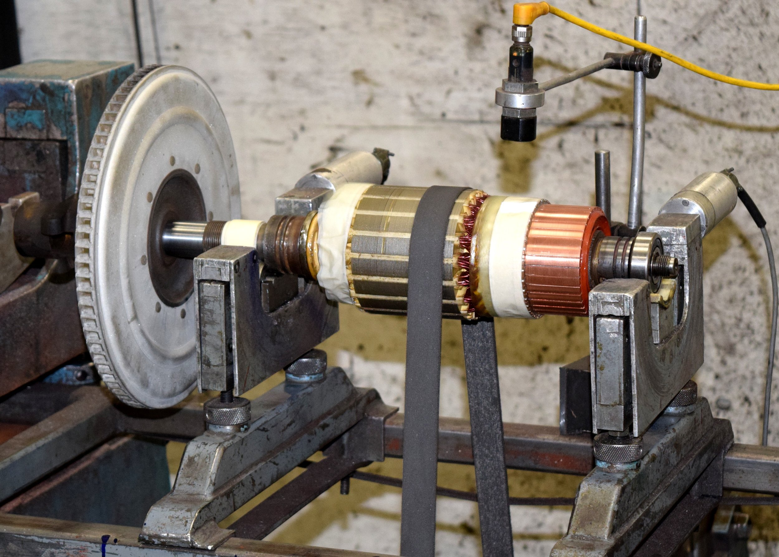 set up for balacning blades and armature.JPG