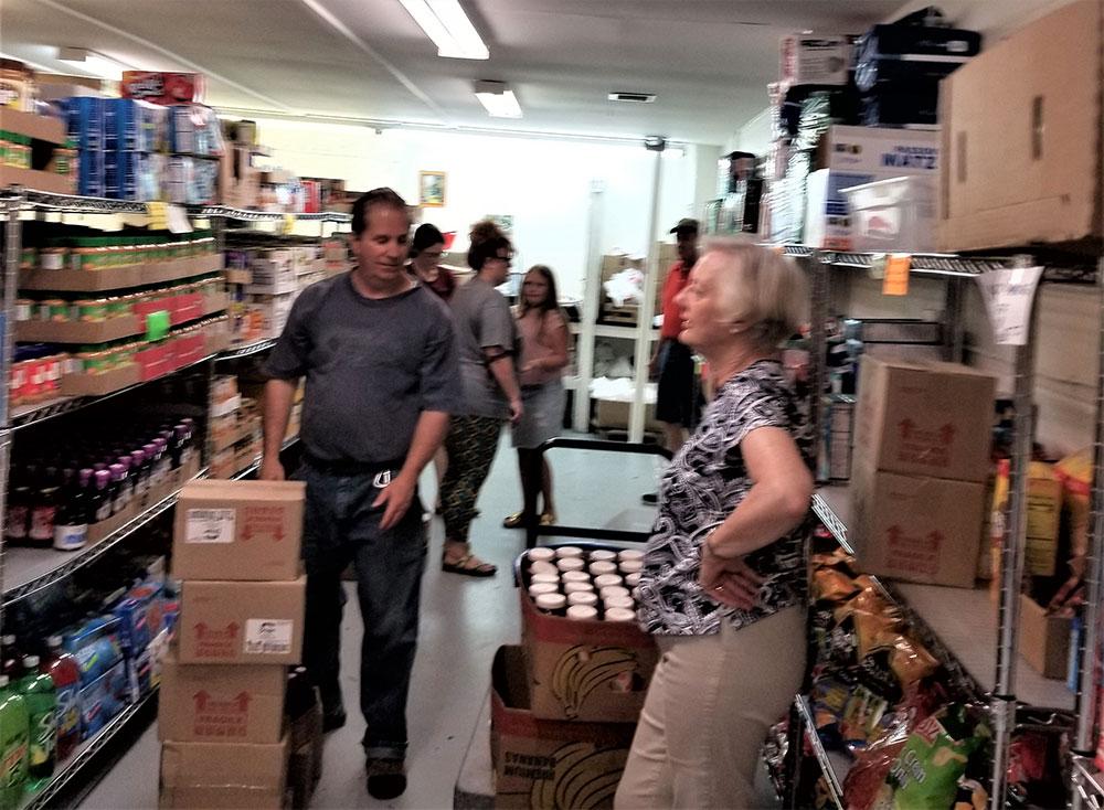 OSLC members volunteer at CCAP of Winchester, VA, Saturday, August 3, 2019