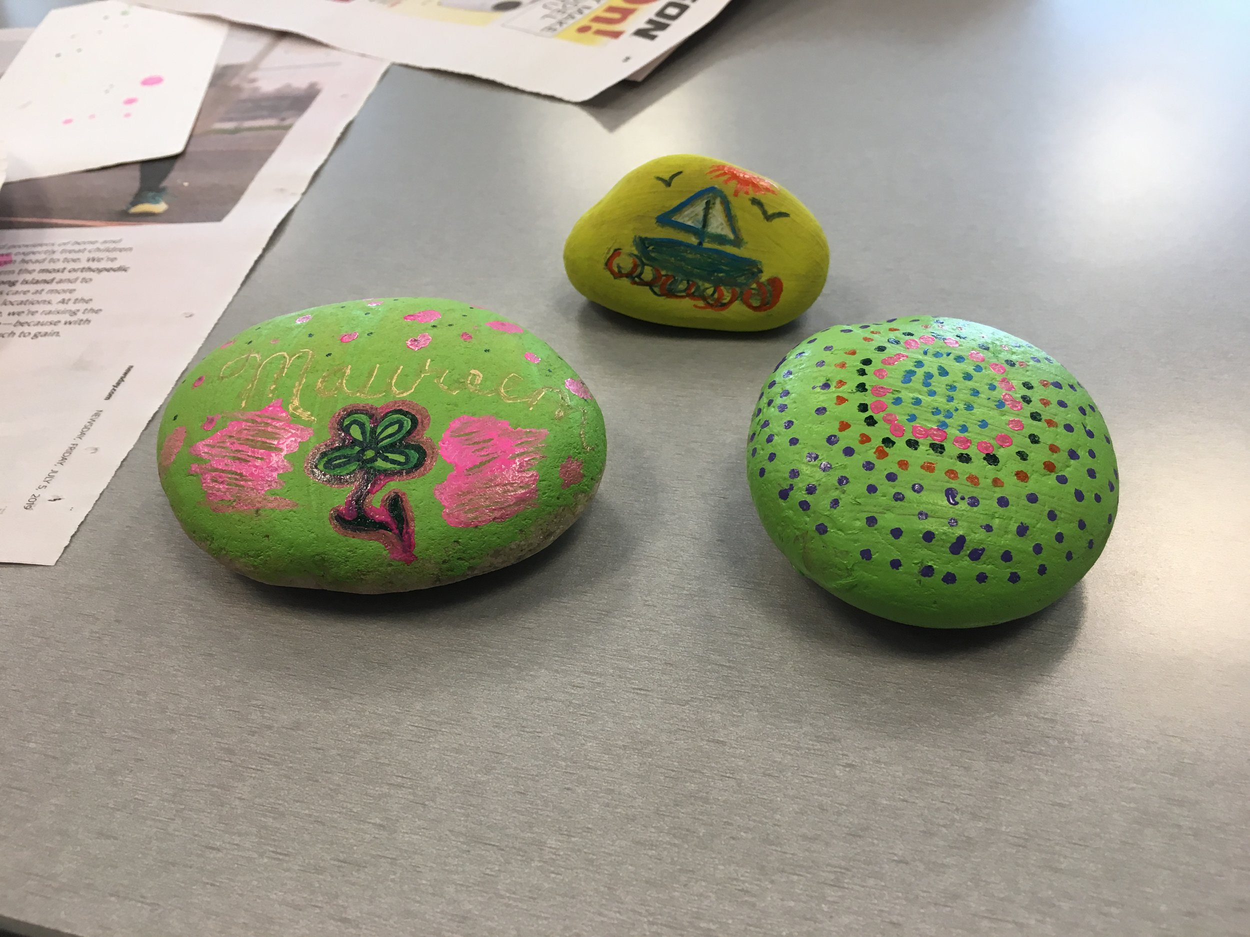 Atria Kindness Rocks Photos - Everyone had a great time painting and sharing kindness rocks on Friday, July 19th. Here are some pictures.