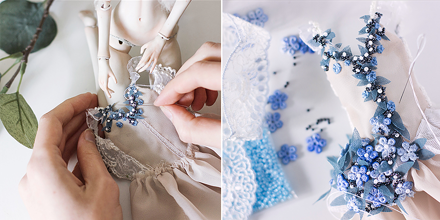 Making porcelain ball-jointed dolls. By Nymphai Dolls