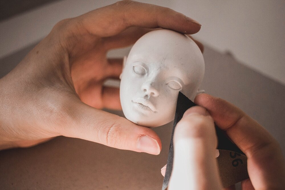 Sculpting a BJD - Finishing touches | by Nymphai Dolls