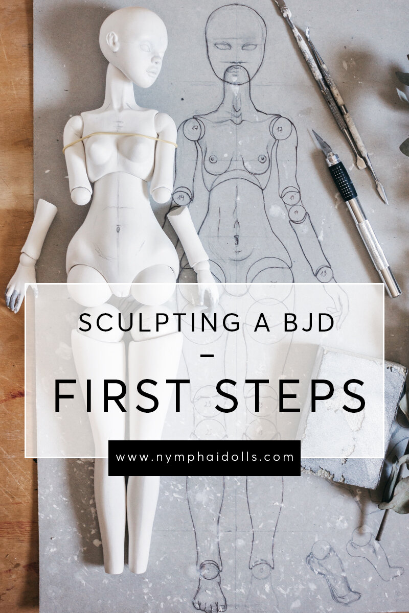 SCULPTING A BJD FROM AIR-DRY CLAY: FIRST STEPS - A few years ago when I was just trying to understand how ball-jointed dolls actually work, there was almost no information about the topic. Now, people are sharing a little bit more on Instagram or Facebook groups, but it still is a very mysterious form of art. And if you want to try and sculpt a doll yourself, you're kinda left on your own. With these posts, I hope to shed a little bit of light on the process and maybe inspire you to sculpt your own BJD!