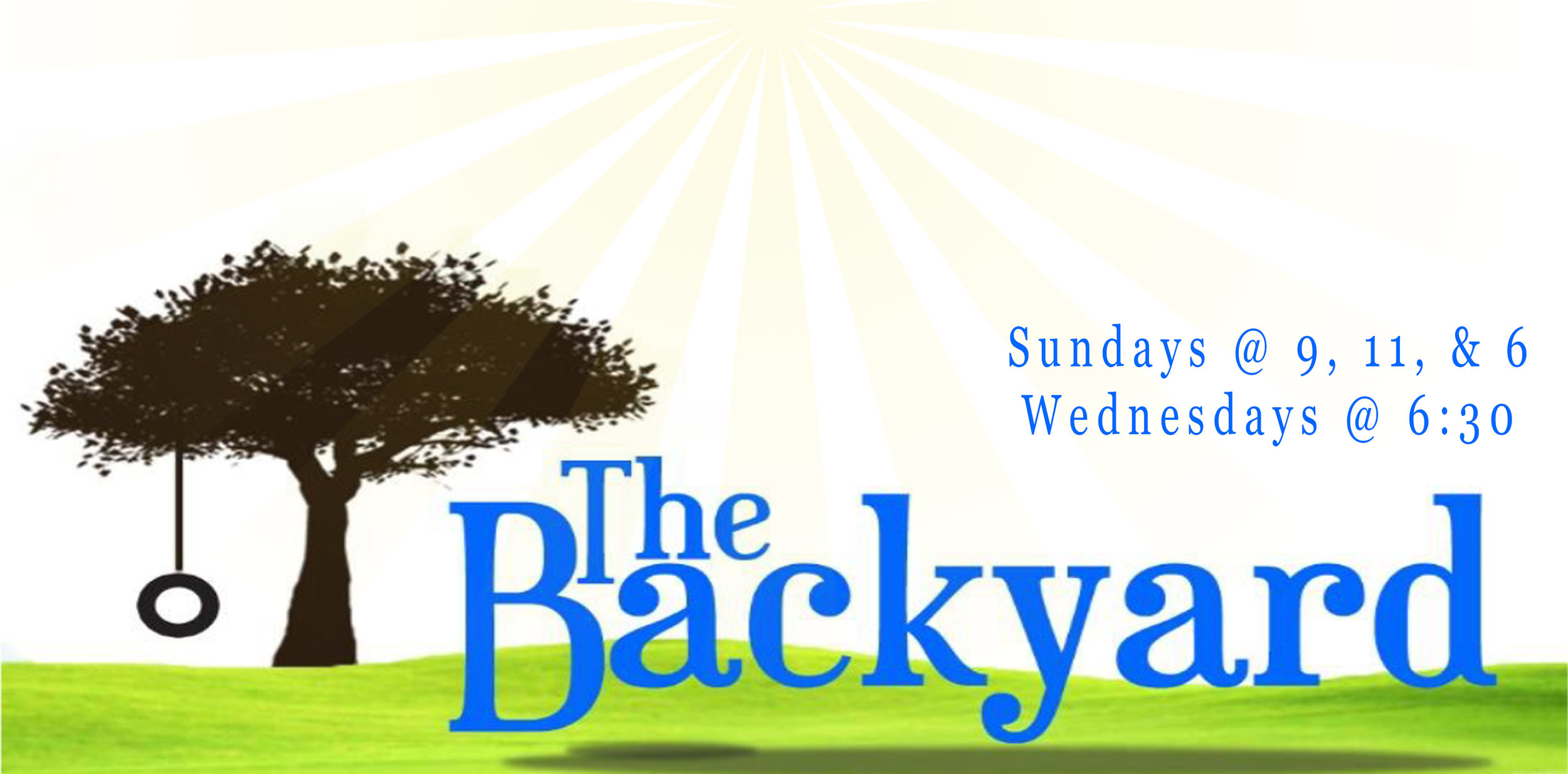 Bring your kids! - The Backyard is a place where your children will be safe, have fun, and experience all that Jesus has for them! Email our Children's Pastor, Kristy Slaughenhaupt. kristys@vineyardlive.org