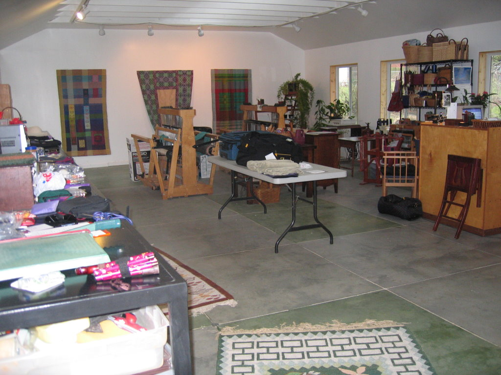 By 2007 I had moved two looms and my desk into the studio.