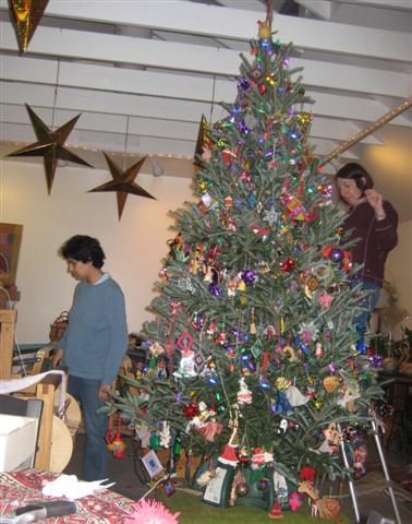 The Christmas tree was first put up in the studio in 2009.