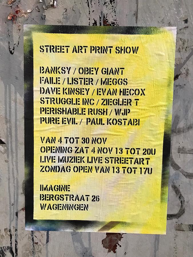 street art poster art stencil