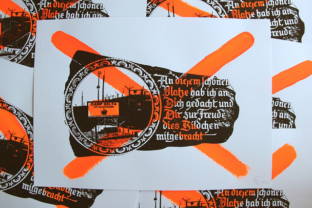 souvenirs from hell screenprint guantanamo bay