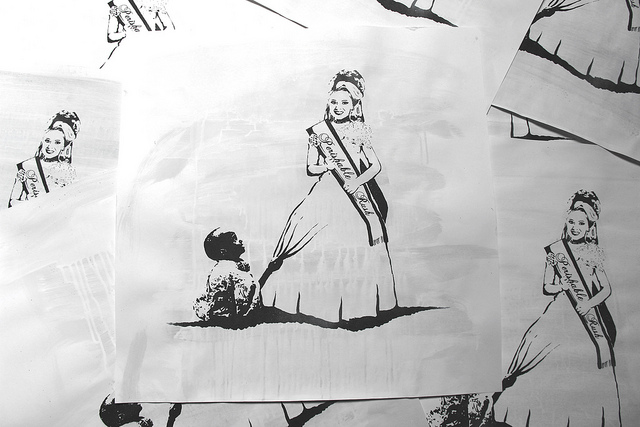 screenprint miss poverty rich vs poor