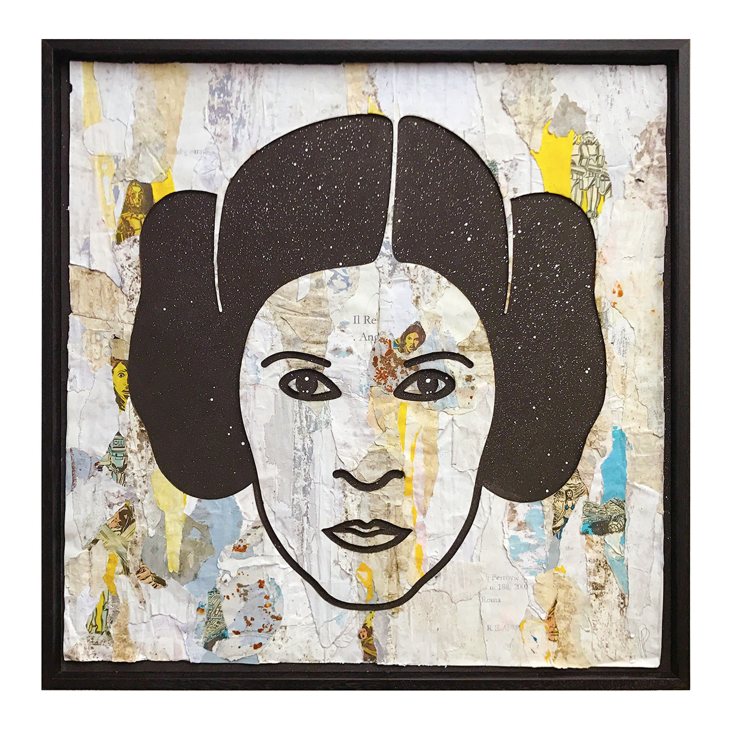 Princess Leia portrait made with paper sourced from this location