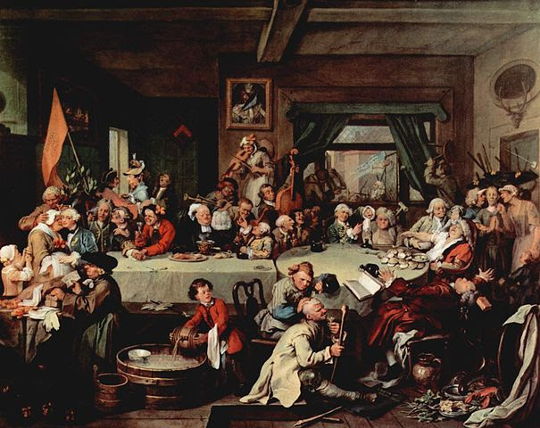 William Hogarth,  An Election Entertainment , 1773