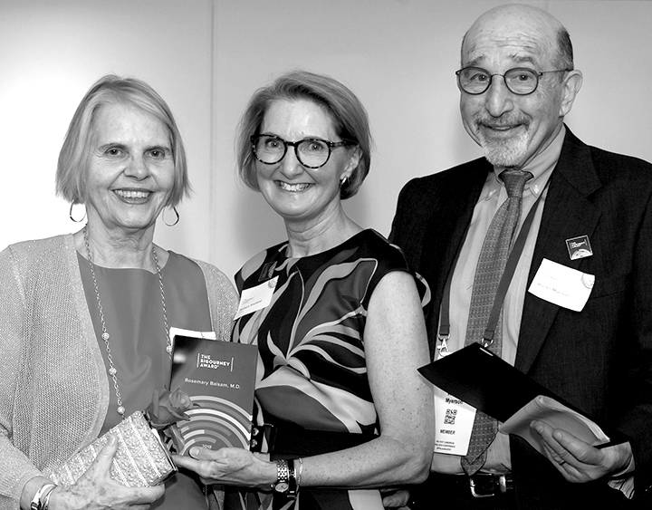Winner Rosemary BAlsam and Trustees Barbara Sherland and William Myerson
