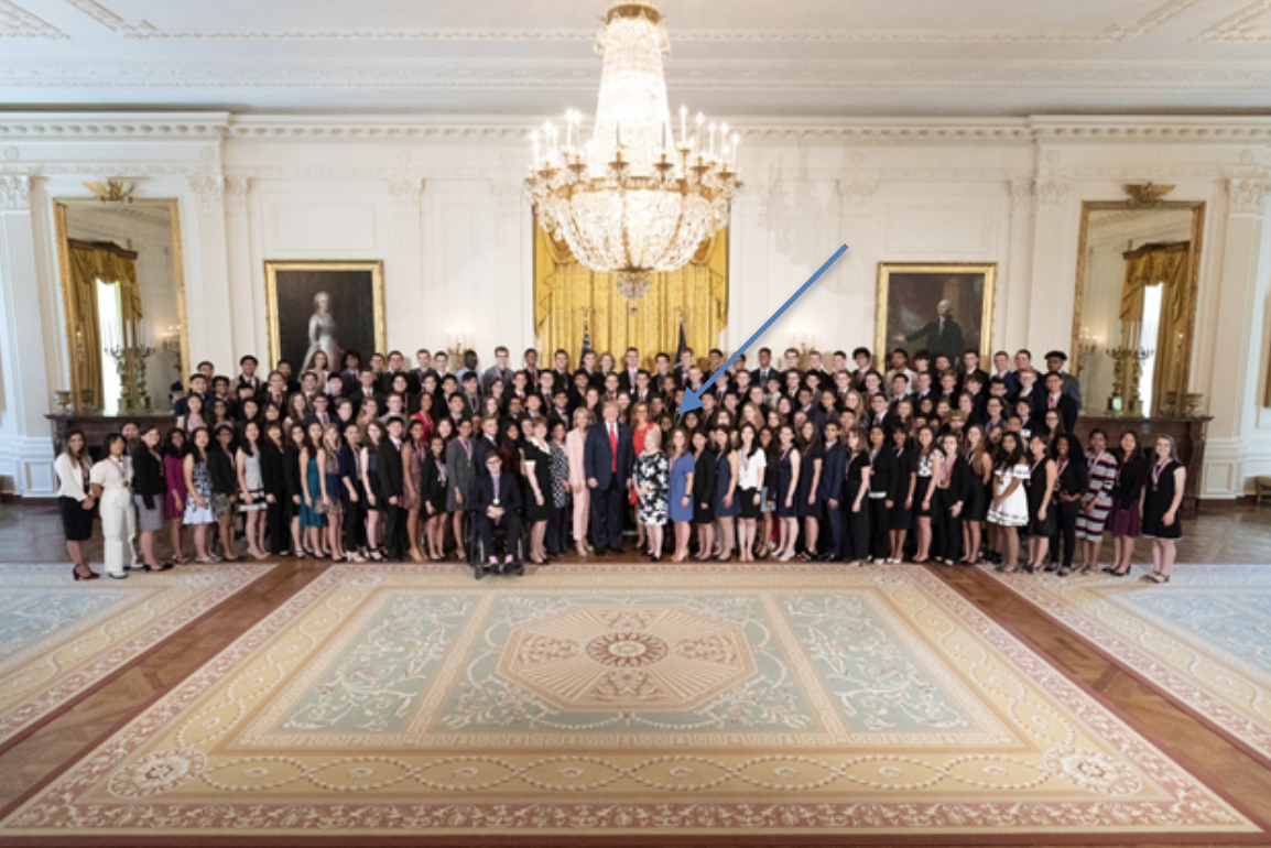 US Presidential Award Ceremony in the White House with President Trump