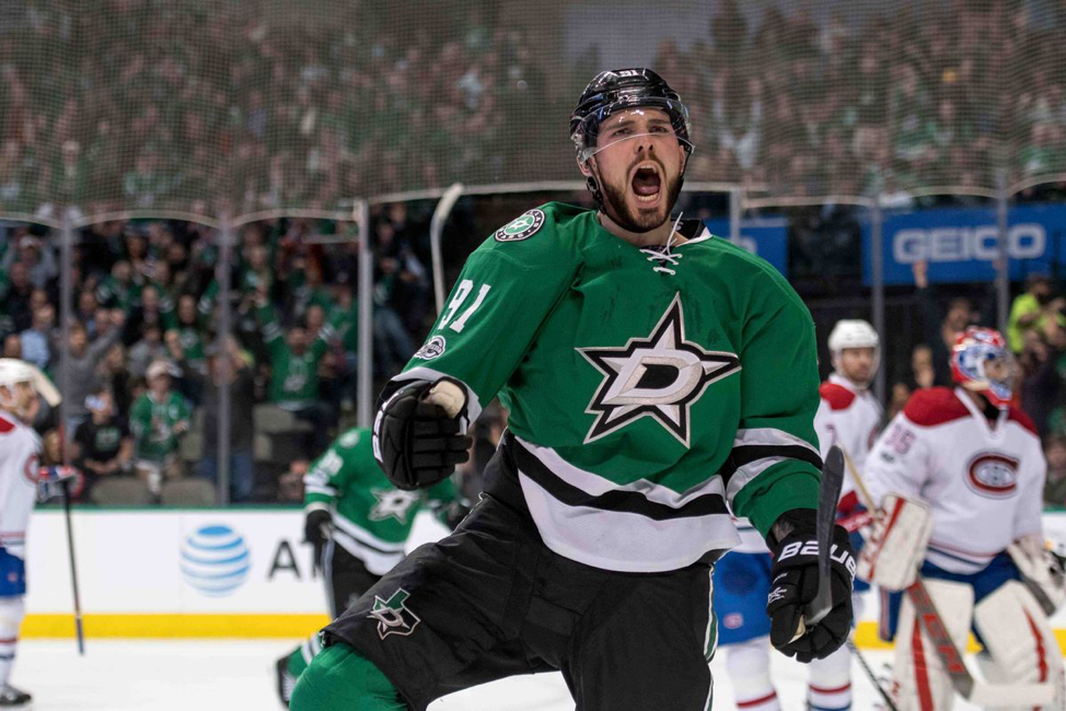 Tyler Seguin after lighting the lamp against the Habs
