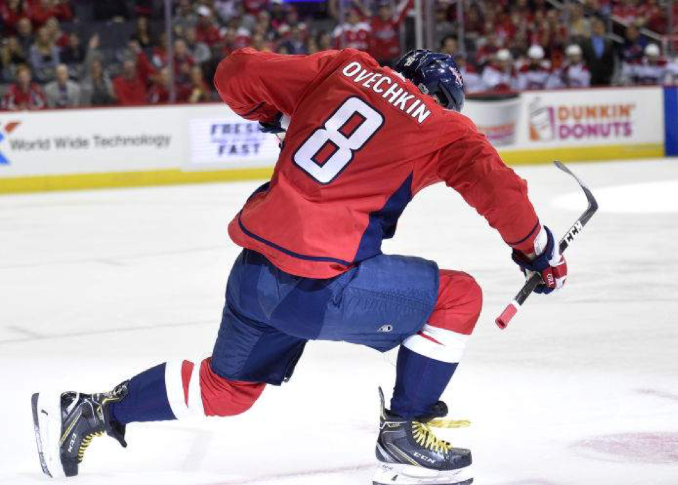 Ovechkin celebrating after goal