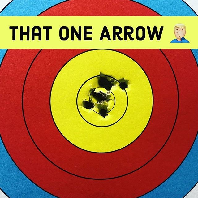 There is always one arrow to mess up your day 🤦🏼‍♂️ .⁣ As always, Storm It, Win It!⁣ ⁣ .⁣ #stormitwinit #compoundbow #archery #competition #progress #training #funday #funinthesun #dreams #goals #inspiration #usaarchery #nfaa #archerylife #thatonearrow