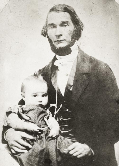 Isaiah Austin & infant son Adelbert I. Austin