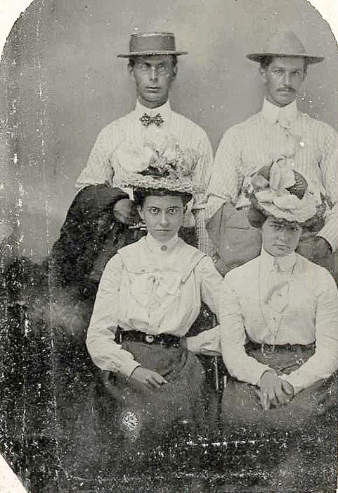 Left: Ernest & Nellie Abbott, Right: Bill Austin & Ruby Carpenter