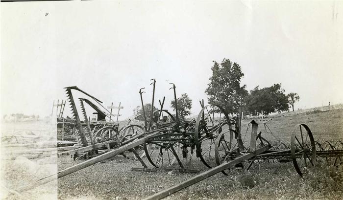 Farm equipment at auction