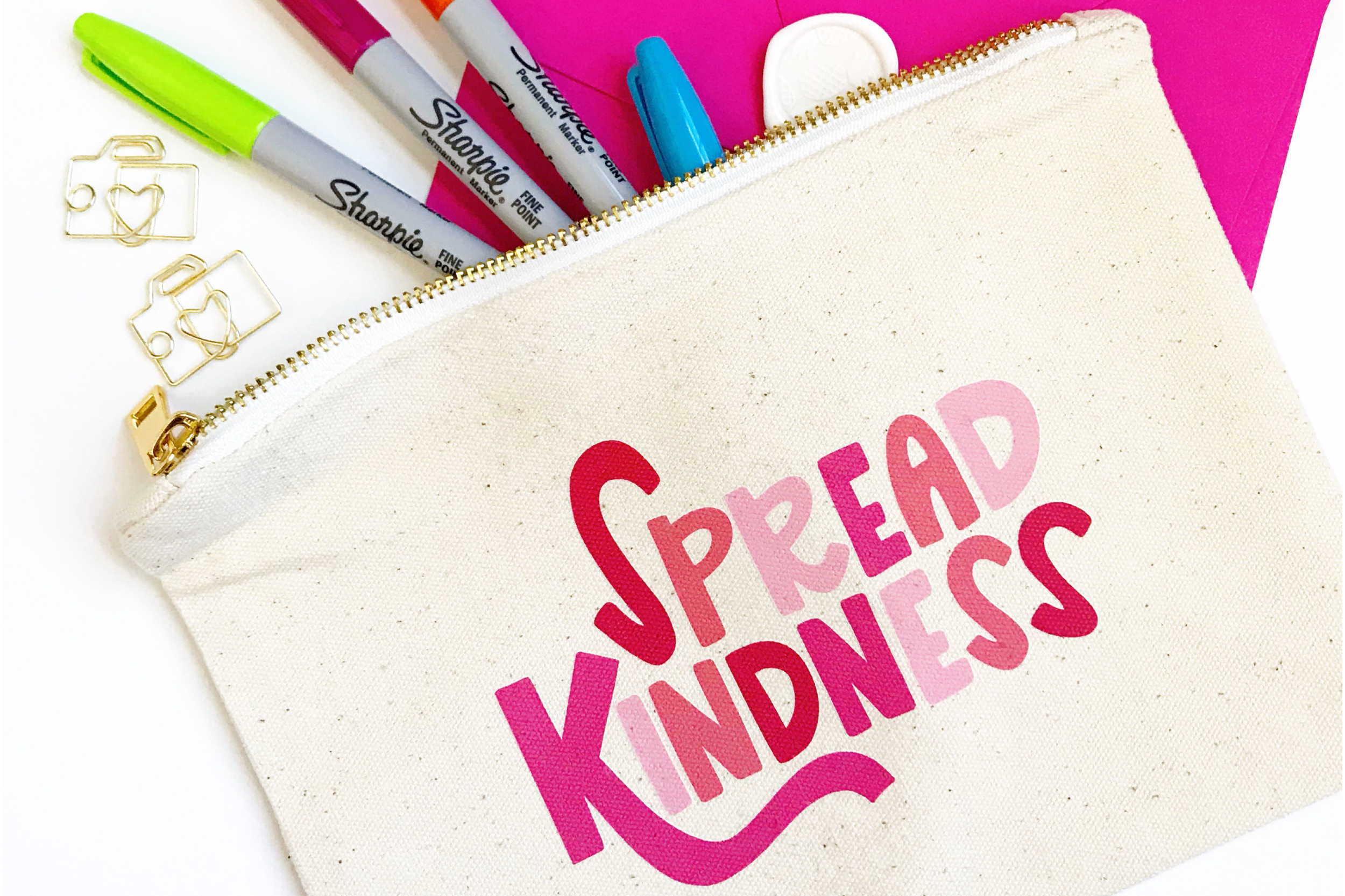 Spread the Kindness Pouch - Happy Doodle Co.