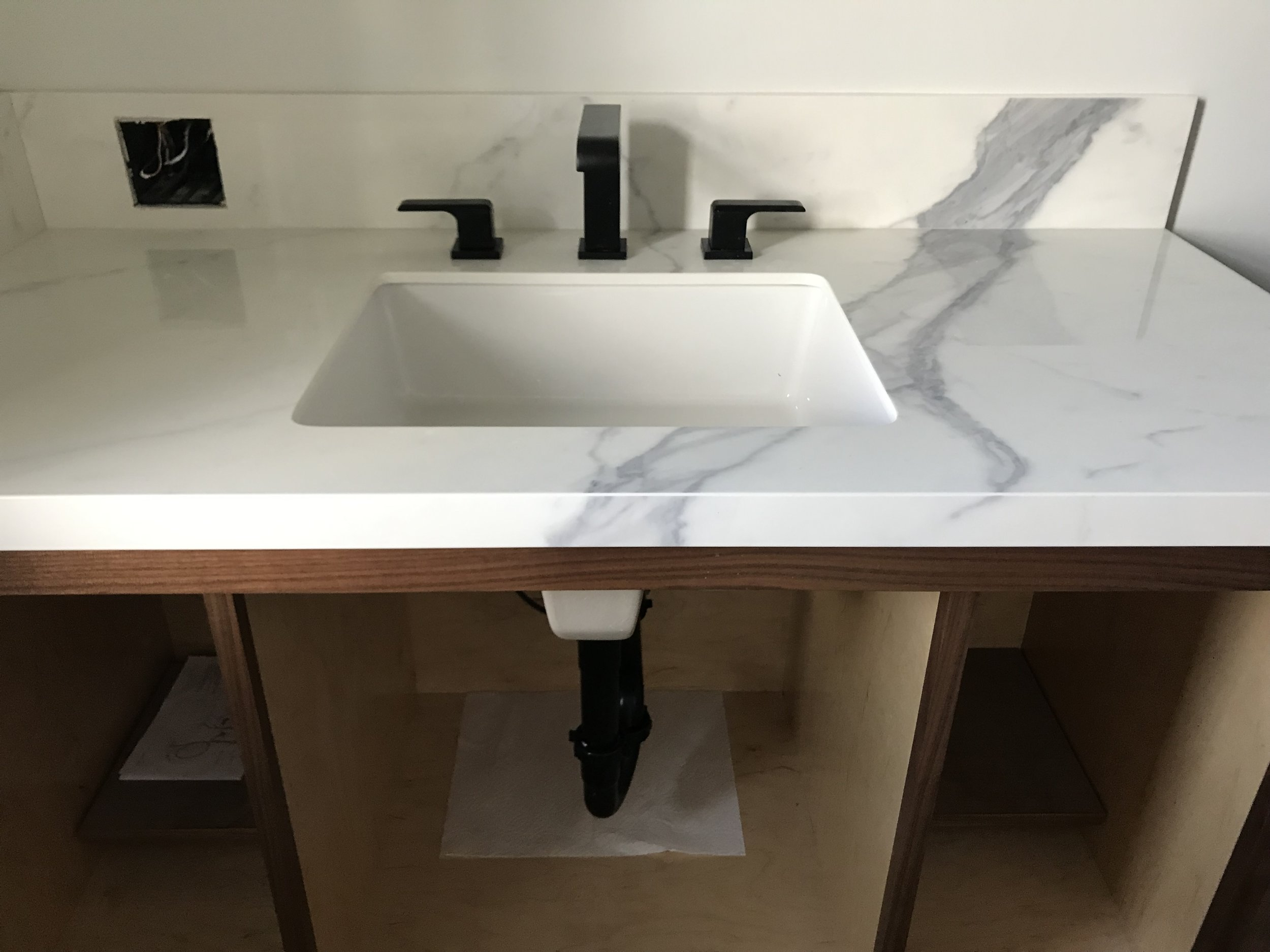 Master Bathroom  - Vanity installed