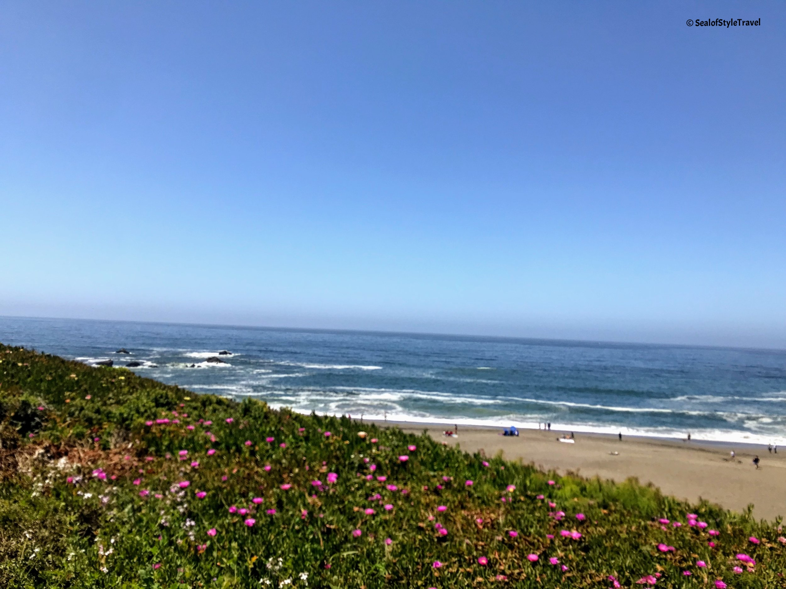 One of the pretty beaches along the coastline