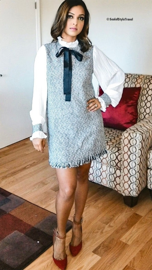 Tweed dress from Shein