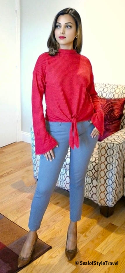 Tie front sweater from Nordstrom Rack