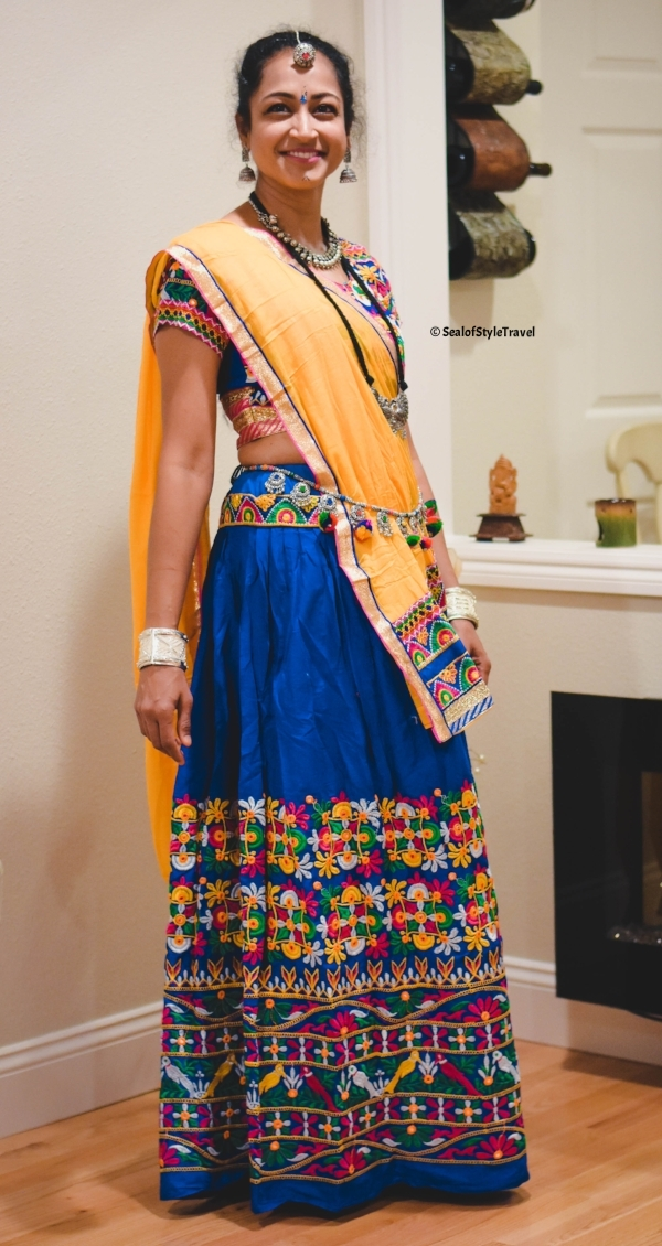 My lovely friend looking super pretty in traditional garba outfit. Her Lehenga is from Law Garden in Ahmedabad